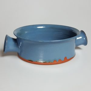 blue terra cotta bowl