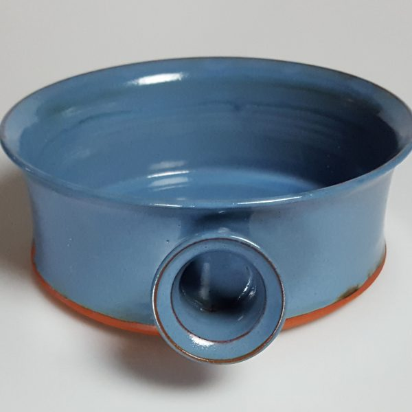 blue terra cotta side handle